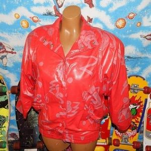 Awesome vintage 80s red jacket S